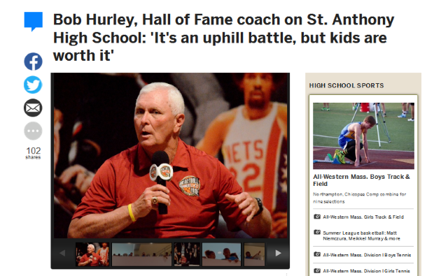 Bob Hurley Hall of Fame coach on St Anthony High School
